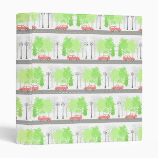 Cars and trees vinyl binders