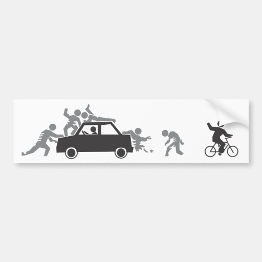 Cars Attract Zombies Bumper Sticker