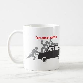 Cars Attract Zombies. Classic White Coffee Mug