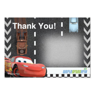 Cars Birthday Thank You Card