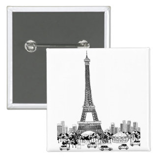 Cars by Tower 2 Inch Square Button