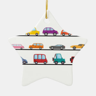 cars ceramic ornament