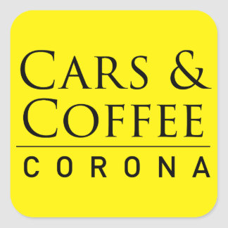Cars & Coffee Corona Sticker