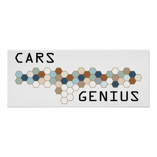 Cars Genius Posters