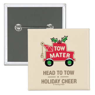 Cars | Head To Tow Holiday Cheer 2 Inch Square Button