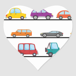 cars heart sticker