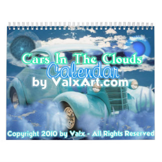 Cars in the clouds calendar by valxart
