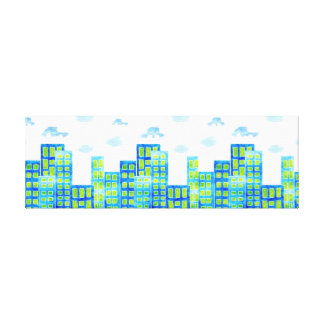 Cars in the Clouds  Urban Cityscape Canvas Print