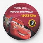 Cars Lightning McQueen | Birthday Paper Plate