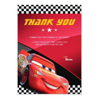 Cars Lightning McQueen | Birthday Thank You Card