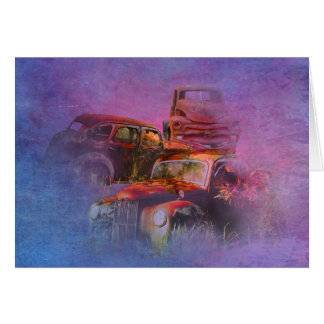 cars lost in jungle horizontal card