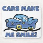 CARS MAKE ME SMILE MOUSE PAD