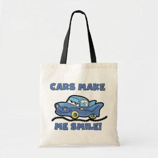 Cars Make Me Smile T-shirts and Gifts Tote Bag