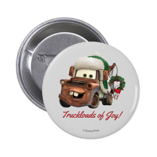 Cars | Mater In Winter Gear 2 Inch Round Button