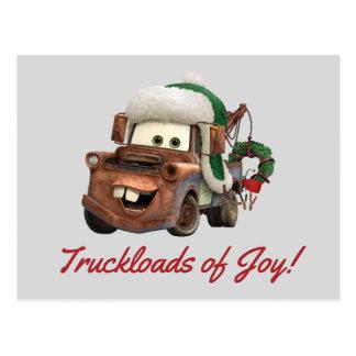 Cars | Mater In Winter Gear Postcard