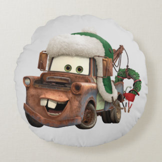 Cars | Mater In Winter Gear Round Pillow