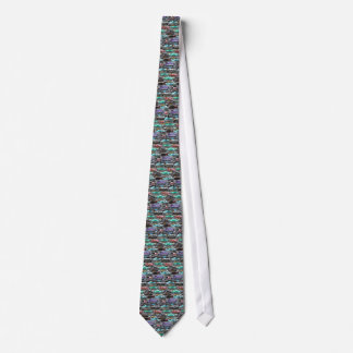Cars of Cuba purple and teal Tie
