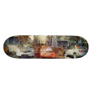 Cars parked skateboard deck