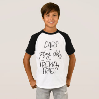 cars + play doh + french fries kids short sleeve T T-Shirt