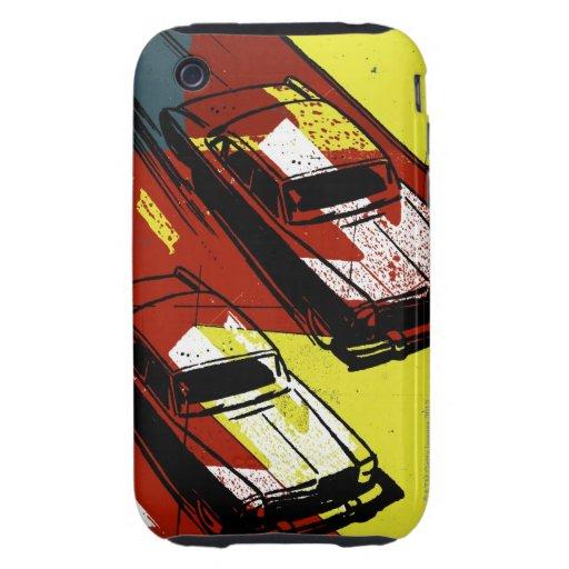 Cars Racing Tough iPhone 3 Covers