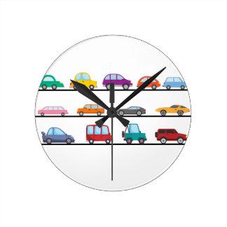 cars round clock