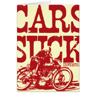 Cars Suck (vintage red) Card