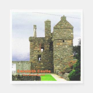 Carsluith Castle -- Clan Broun/Brown Paper Napkin