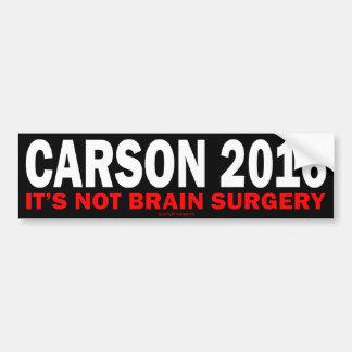 Carson 2016 bumper sticker