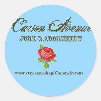 Carson Avenue Classic Round Sticker