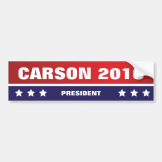 Carson for President 2016 Bumper Sticker
