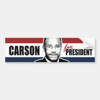 Carson for President Red White and Blue Bumper -.p Bumper Sticker