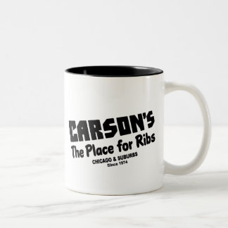 Carson's, the place for Ribs, Chicago and suburbs. Two-Tone Coffee Mug
