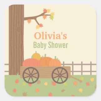 Cart of Pumpkin Patch Baby Shower Decor Stickers