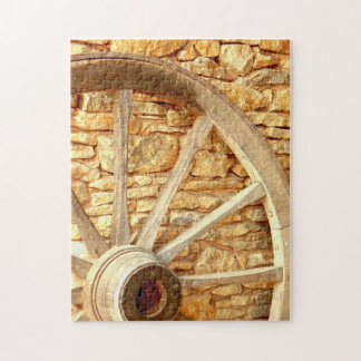 Cart Wheel Photo Puzzle with Gift Box