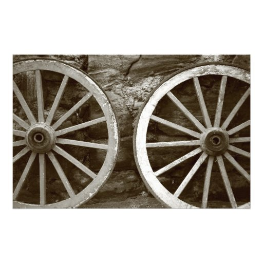 Cart wheels stationery design
