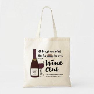 Cartable drôle de coutume de club de vin du club sac en toile budget