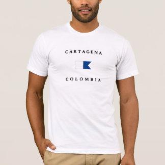 Cartagena Colombia Alpha Dive Flag T-Shirt