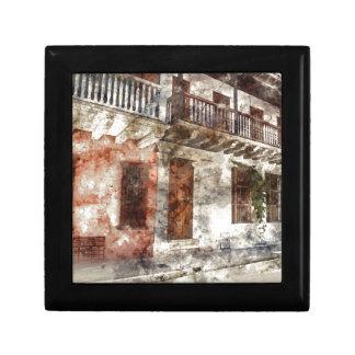 Cartagena Colombia Watercolor Artwork Jewelry Boxes
