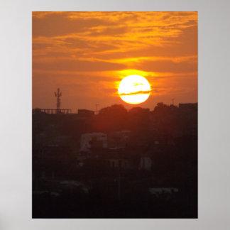 Cartagena Sunrise Poster