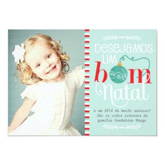 Cartão de Natal e Ano Novo Personalizado com Foto Card