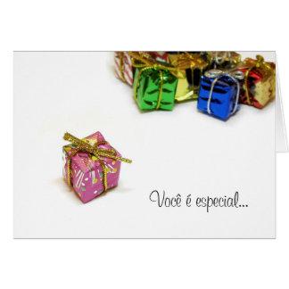 """Cartão de Natal """"Você é especial"""" Greeting Card"""