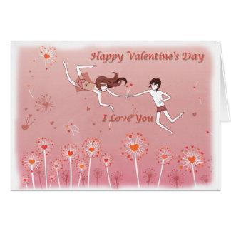 Cartão Horizontal Happy Valentine's Day Card