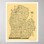 Carte 1897 de chemin de fer du Michigan Poster