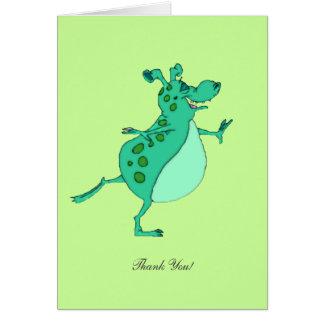 Carte Alien vert sautant - Merci