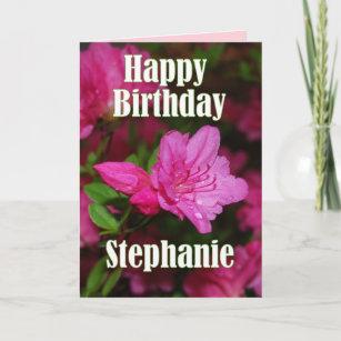 Carte Anniversaire Dazalée Rose De Stephanie Joyeux