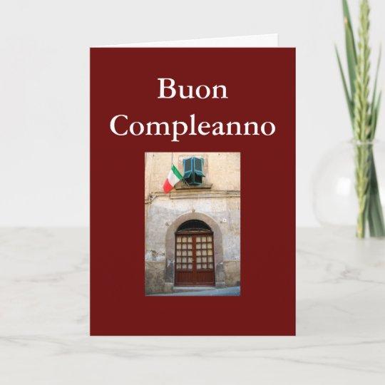 Carte Anniversaire Italien.Carte Anniversaire Italien De Buon Compleanno Zazzle Ca