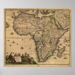 Carte antique de l'Afrique 1680 par Frederick De Poster