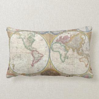 Carte antique du beau coussin du monde 1794