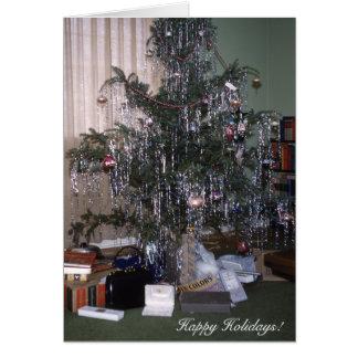 Carte Arbre de Noël antique