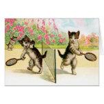 Carte : Art de cru de chatons de badminton